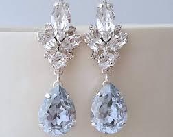 Chandelier Earrings Etsy Dusty Blue Earrings Etsy