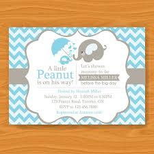 baby boy shower invites baby shower invitations elephant theme cloveranddot