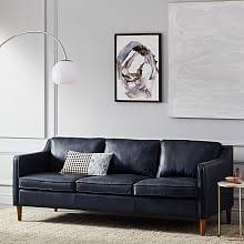 Modern Gray Leather Sofa by Contemporary Sofas And Loveseats West Elm