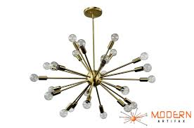 Sputnik Chandelier Sputnik Chandelier Satin Brass 30 In Diameter With 24 Arms