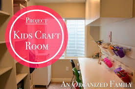 an organized family project kids craft and homework room