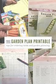 free garden plan printable planner seed order inventory square