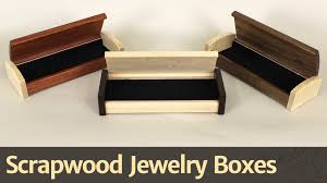 Free Wooden Keepsake Box Plans by 268 Scrapwood Jewelry Box Youtube