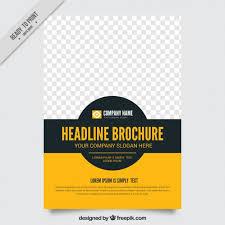 Plain Brochure Template by Simple Brochure Template Vector Free