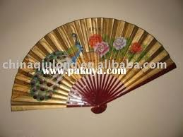 decorative fans wall fans decorative soft blue poem asian wall fan asian home