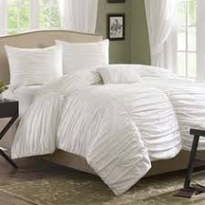 Pb Essential Duvet Cover Review Love The Clean White Lines Of This Lina Ruched Duvet Cover U0026 Sham