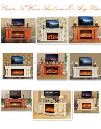 georgian style carved wood electric fireplace decorative fake