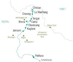 Map Of Nepal And Tibet by Annapurna And The Kingdom Of Mustang Ryder Walker