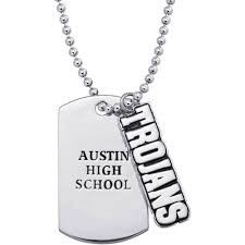 high school class necklaces personalized dog tags