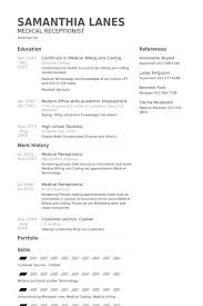 Secretary Resume Examples by Job Resume Medical Receptionist Resume Sample Free Medical