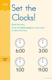 telling time one minute intervals second grade worksheets and