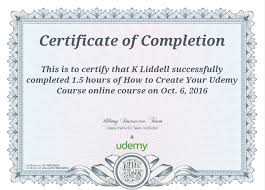 Certification Letter Of Accomplishment Certificate Of Completion U2013 Udemy