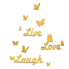 live love laugh 10 piece butterfly wall decor live love laugh mirror wall stickers