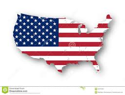 map of the usa with american flag stock illustration image
