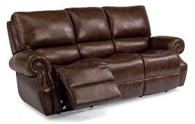 sofas and loveseats reclining sofas and sleepers flexsteel leather power reclining sofa with power headrests