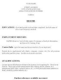 Blank Fill In Resume Templates Free Printable Resumes Templates Resume Maker Word Free Download