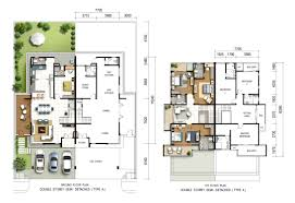 Semi Detached Floor Plans by Semi Detached Type A The Palms Lumut