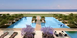 porsche design tower pool the new fendi chateau residences luxury condominium in surfside