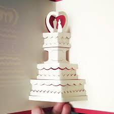 Origami Wedding Cake - 10pcs 3d creative 3 layers cake handmade kirigami origami wedding