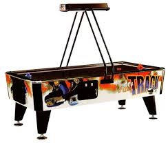 used coin operated air hockey table reconditioned fast track mk1 8ft commercial air hockey table