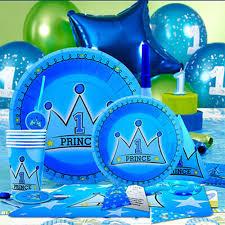 1st Birthday Invitation Card For Baby Boy 90pcs Children Party Set Decoration Baby Boy Kids 1st Birthday