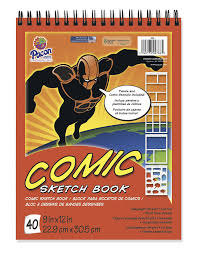 amazon com pacon comic sketch book 9