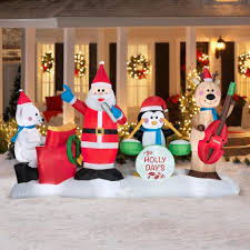 Outdoor Christmas Decor Walmart by Christmas Inflatable Christmas Decorations Front Yard From