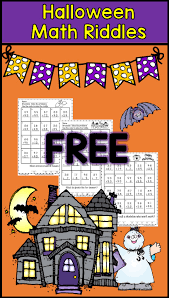 halloween math riddles with 2 digit addition with regrouping