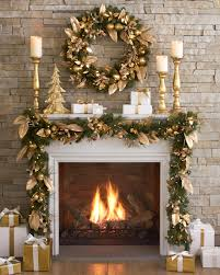 amazing fireplace christmas decoration featuring green christmas