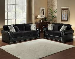 Gray Nailhead Sofa Black Sectional Sofa With Nailhead Trim Centerfieldbar Com