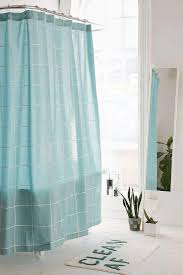 Aqua Blue Shower Curtains Aqua Grid Shower Curtain