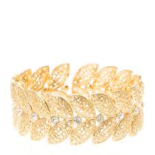 bracelet leaf images Gold leaf design stretch bracelet claire 39 s jpg
