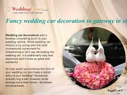 Wedding Car Decorations Fancy Wedding Car Decoration To Gateway In Style