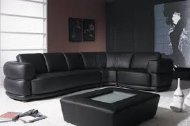 Dobson Sectional Sofa by Black Leather Sofa Modern Mid Century Modern Style Black Leather