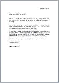 resignation letter template jobfox co uk