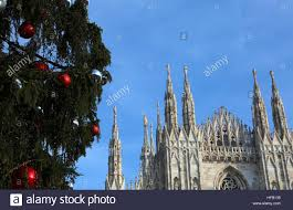 milan cathedral and the tree with and silver