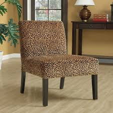adorable leopard accent chair leopard print espresso finish accent chair free today