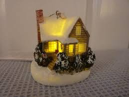 kinkade ornaments cottage decorations