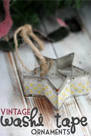 vintage washi tape ornaments frugal mom eh