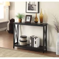 Console Table In Living Room Convenience Concepts Oxford Console Table Colors