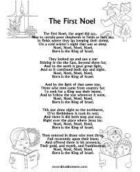 printable lyrics bluebonkers the first noel free printable christmas carol lyrics