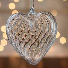 hand blown glass heart ornament christmas ornaments christmas