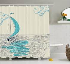 bathroom awesome beige wooden lighthouse shower curtain nautical