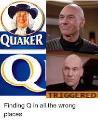 Quaker Memes - quaker triggered star trek meme on me me
