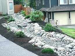 How To Make Rock Garden Rock Garden Bed Beautiful River Rock Landscaping Home Decor