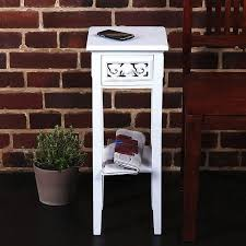 country side style telephone table white washed wood from