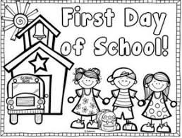 Coloring Page Of A School School First Day Of School School Bus Coloring Page School Bag by Coloring Page Of A School