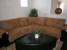 suede sectional sofas octorose camel quilted bonded or classic micro suede sectional