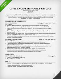 Resume Templates Engineering Resume Sample For Civil Engineer Technician Http Www