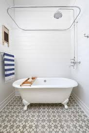 Shower Kit With Bathtub Beach Cottage Bathroom With River Rock Floor Cottage Bathroom